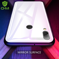 CHYI glass case For huawei Nova 3e case cover huawei P20 lite Luxury Protective Back shell full cover P20lite Glass Case 5.8''