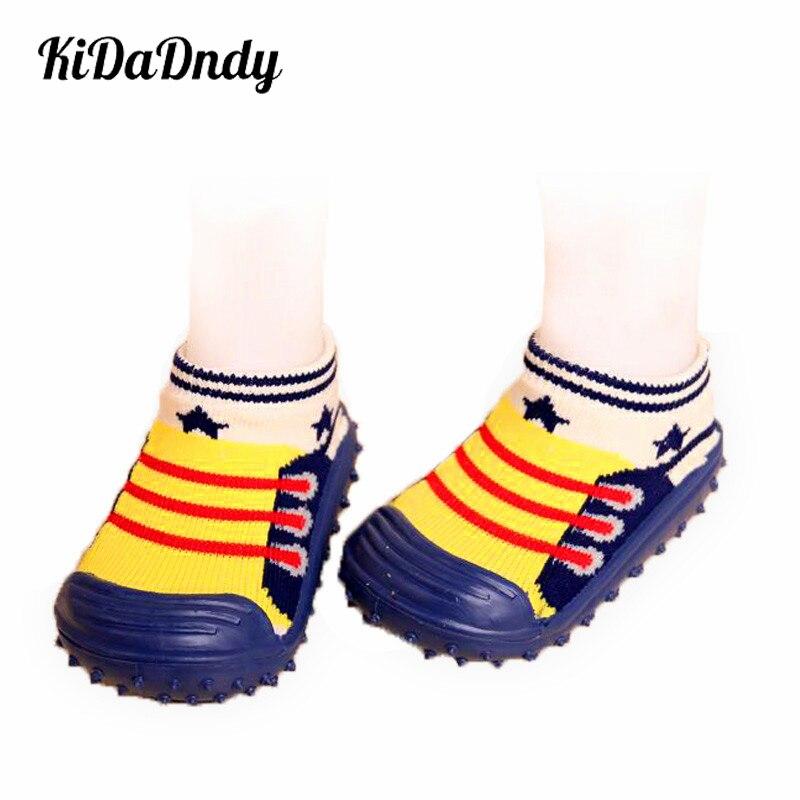 KiDaDndy calcetines para bebés con suelas de goma antideslizantes - Ropa de bebé