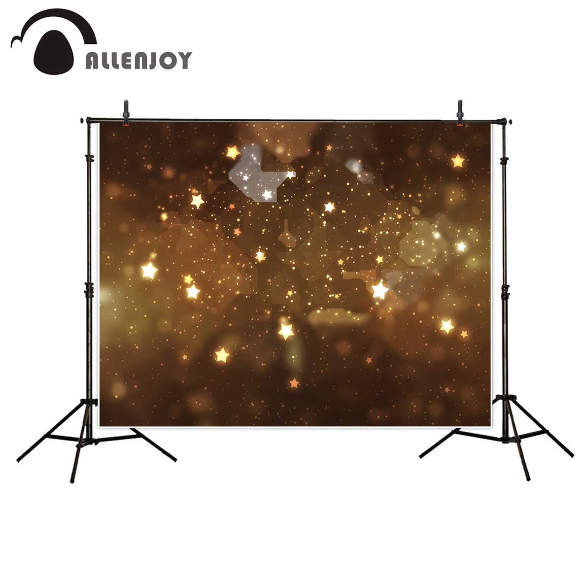 Allenjoy photography background brown glitter stars bokeh backdrop Christmas theme Photo background studio camera fotografica лампочка онлайт 71 644 oll g45 6 230 4k e14