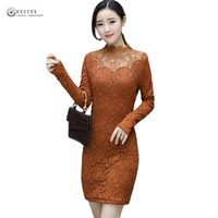 2018 Latest Spring Winter Lace Dresses Women Clothing Thicken Warm Solid Color Women Plus Size 3XL