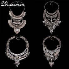 Dvacaman Fashion Jewelry Women Collier Big Vintage Maxi Chunky Necklaces pendants Maxi Boho Statement Collar Necklace