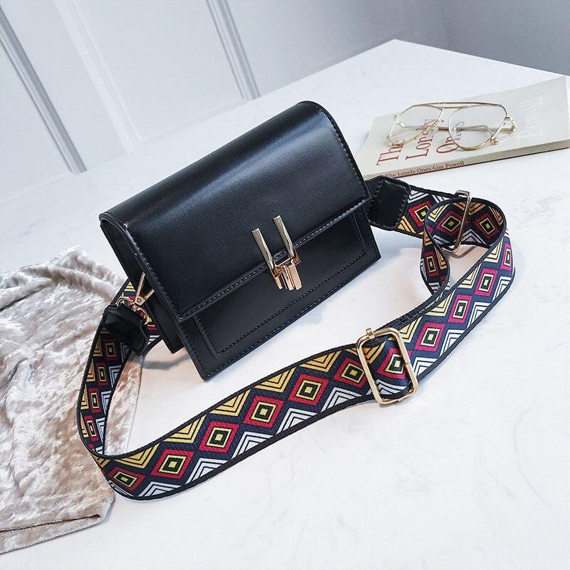 New Women Fashion Width Shoulder Bags INS Popular Female Exquisite Solid Handbag Mini Flap Lady Travel Chains Crossbody SS3474 (6)