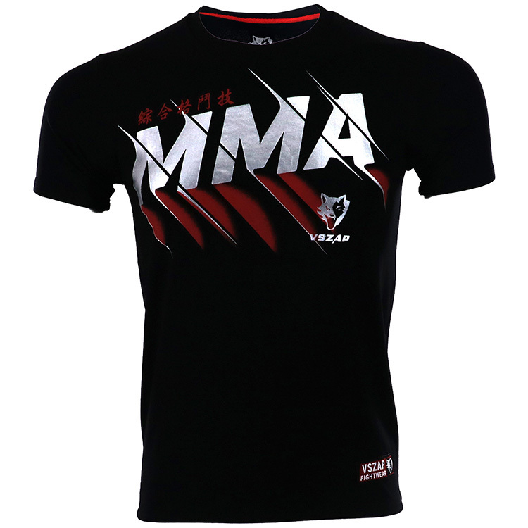 VSZAP MMA Muay Thai Boxing Shorts Muay ThaiPattern Sport T Shirt Training Wear Breathable Clothing MMA Shirt Boxing Clothing