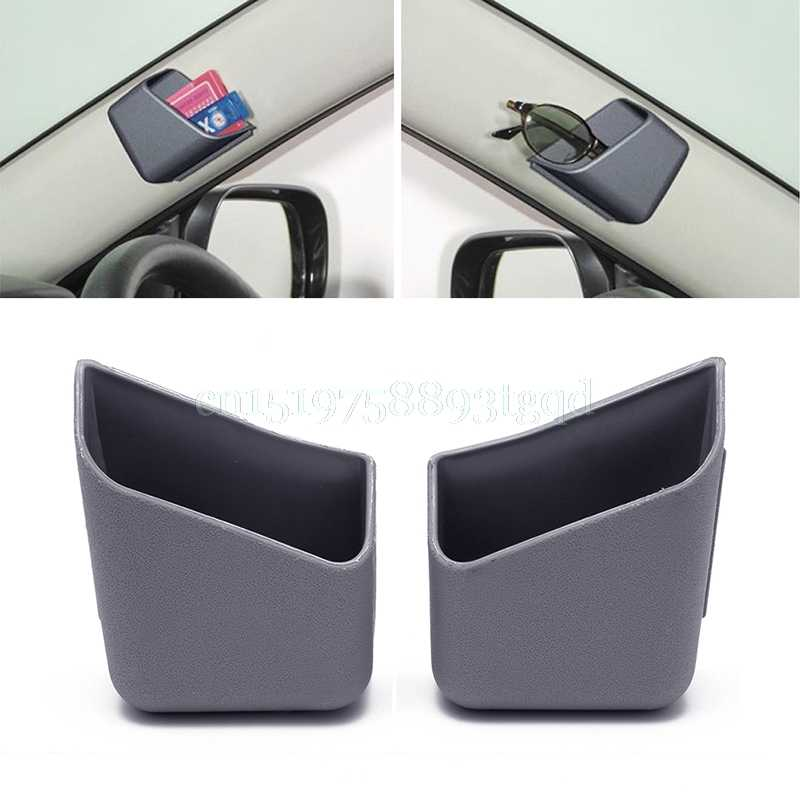 2 قطعة اكسسوارات السيارات العالمي السيارات نظارات المنظم صندوق تخزين حامل 3 ألوان
