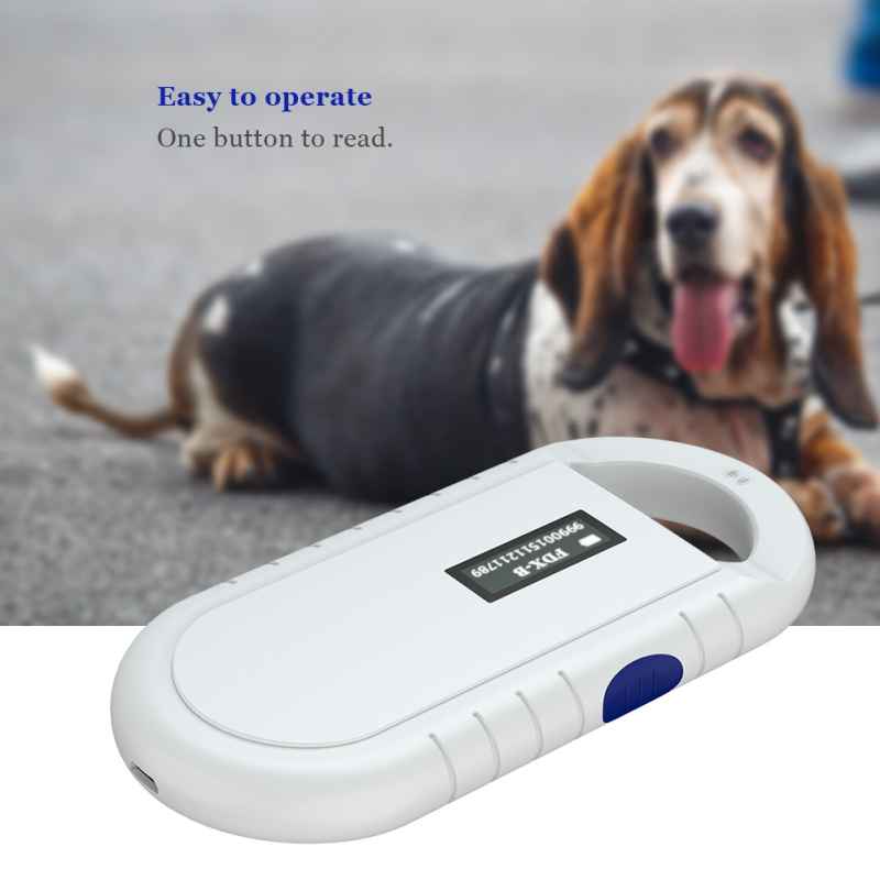 Portable ISO11784/5 FDX-B Animal Pet ID Reader Chip Rransponder USB RFID Handheld Microchip Scanner For Dog Cats Horse Pets