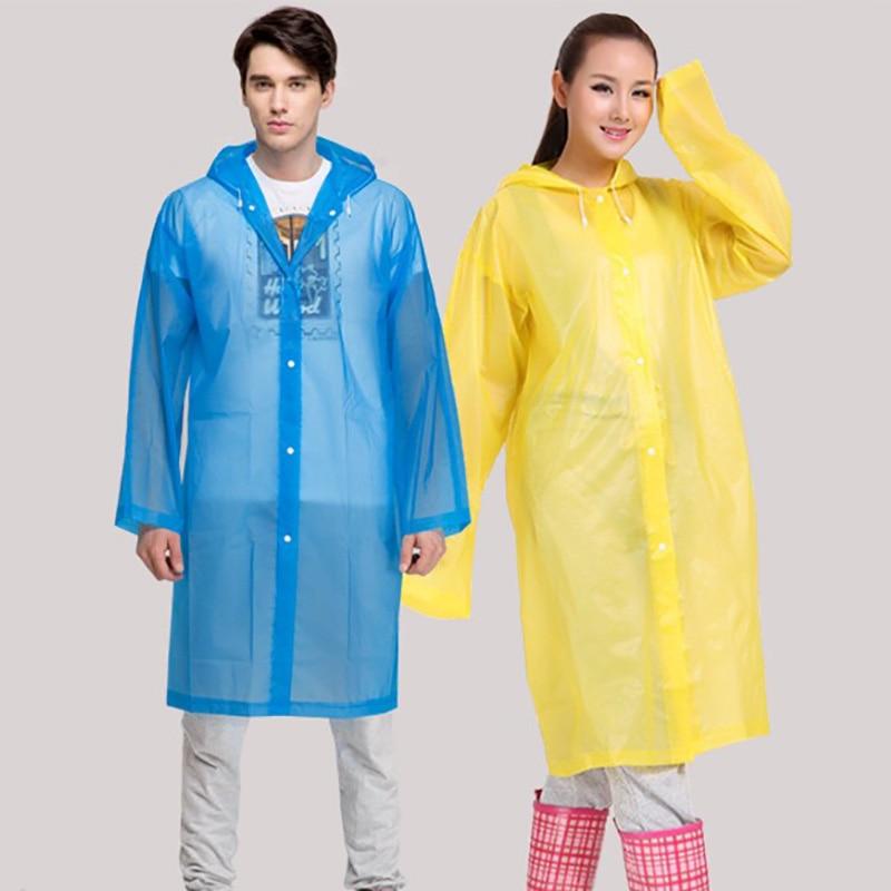 Universal Transparan Pria Jas Hujan Penutup Ponco Travel Wanita Jas Hujan Tahan Air Berkemah Berkerudung capa de chuva Kedap