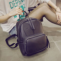 The new female bag rabbit ears shoulder bag female Korean version of the school casual simple color collision bag backpack