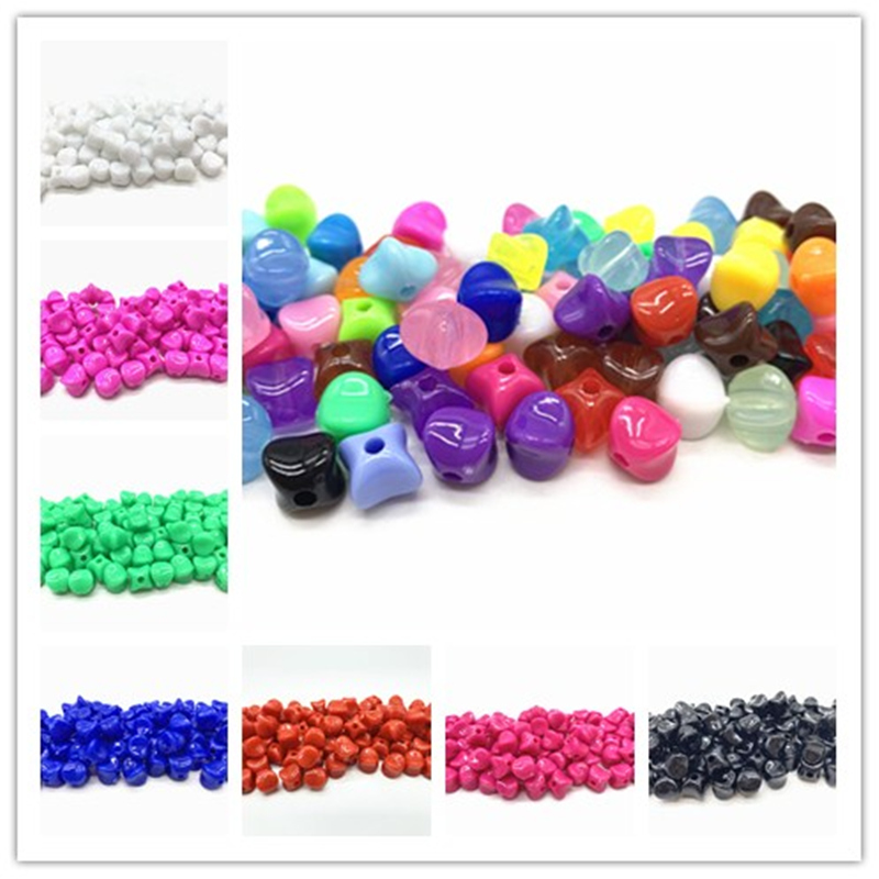 50pcs/lot 8mm Acrylic Beads Spacer Loose Beads For Jewelry Making DIY Bracelet Earring
