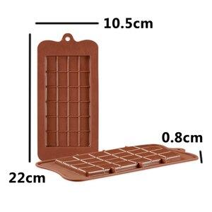 Image 4 - שוקולד תבניות בישול עוגת תבניות באיכות גבוהה כיכר ידידותית לסביבה סיליקון סיליקון עובש DIY 1PC מזון כיתה 24 חלל