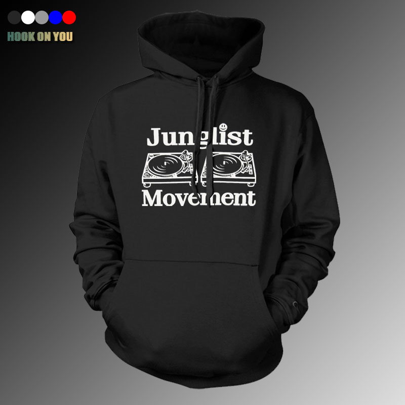 Drum and Bass Clubbing Turntables Decks Music DNB Man Junglist Movement thin Hoodies