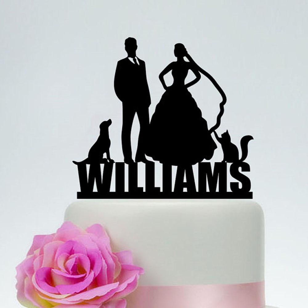 Online Shop Wedding Cake Topper with Last name,Custom Acrylic wood ...