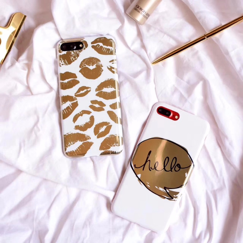 New Arrival <font><b>Phone</b></font> <font><b>Case</b></font> <font><b>Gold</b></font> Collagen Crystal Lip Cover for iphone 7 7 Plus 6 6s Plus for women girl style capa fundas