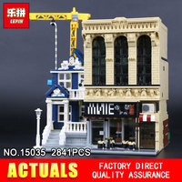 LEPIN 15035 2841Pcs Creative MOC The Bars And Financial Companies Set Children Educational Building Blocks Bricks