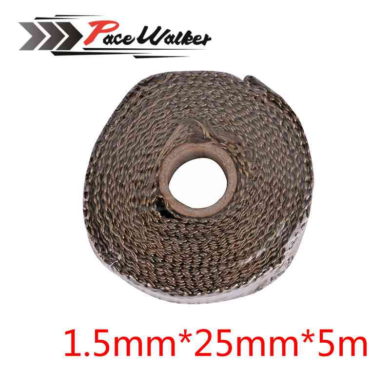 Exhaust-Wrap-Tape Turbo-Manifold-Heat Thermal-Stainless-Ties MOTORCYCLE Titanium CAR
