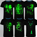 summer brand clothing Novelty Mens tshirt homme 3D Glow in the Dark Luminous t shirt Men Wolf Printed Short Sleeve tee