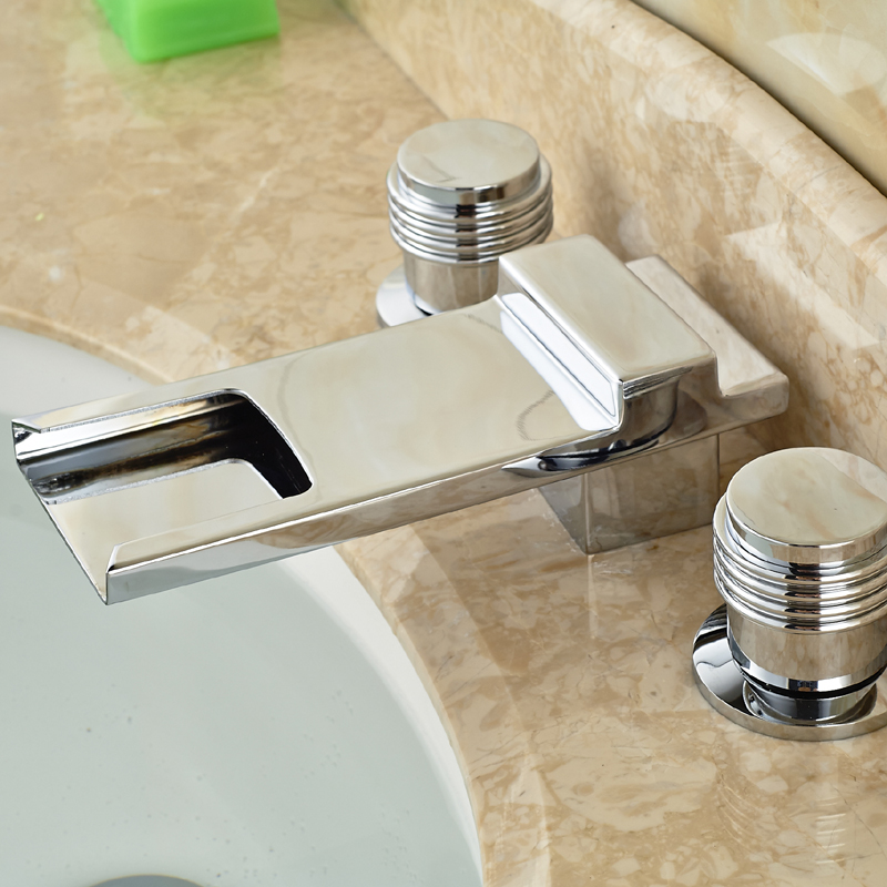 Classic Waterfall Long Spout Basin Faucet Mixer Taps Chrome Brass Bathroom Hot Cold Mixers Water Taps основание для люстры paulmann baldachin 50341
