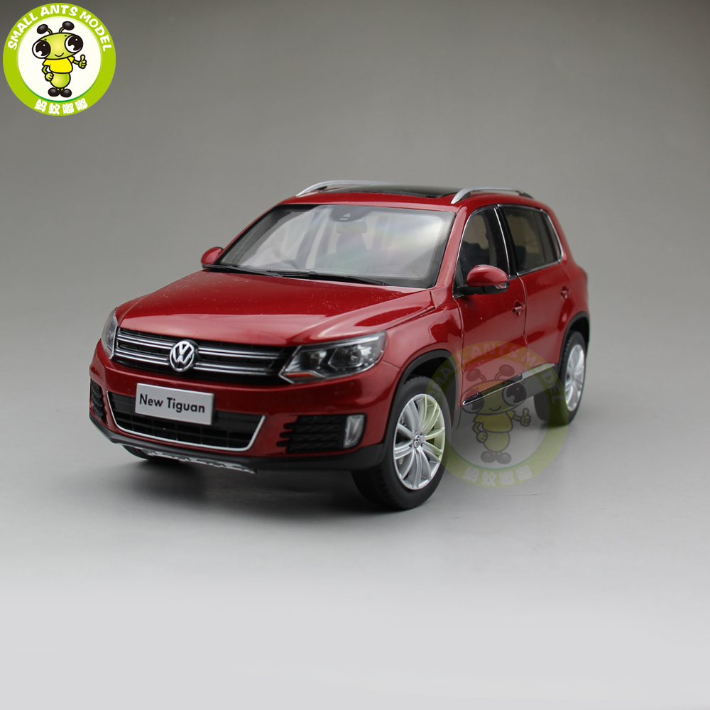 SALE!! 1/18 VW Volkswagen Tiguan SUV Diecast Metal SUV CAR MODEL Toy gift hobby collection Red hot sale abs chromed front behind fog lamp cover 2pcs set car accessories for volkswagen vw tiguan 2010 2011 2012 2013