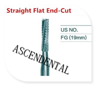 FG Dental Carbide Bur Cylinder Flat End Cross Cut for High Speed Handpiece,10Pcs/Pack,Dental Clinic  lab  material