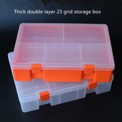 Pogrubienie podwójny sprzęt skrzynia na części element elektroniczny box akcesoria do pudełek narzędziowych sortowanie Lego schowek