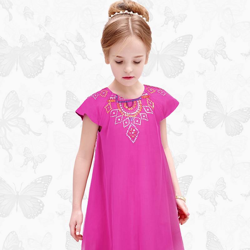 Girls Dress with Handmade Dragonfly 2017 Brand Princess Dress Long Sleeve Robe Fille Clothes Kids Dresses 50 bestselling 920 print head compatible for hp 920 920 printhead officejet 7000a 7500a 6000 6500 920 printer head freeshipping