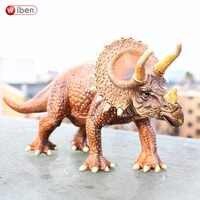 Wiben Jurassic Solide Triceratops Dinosaurier Spielzeug Action & Spielzeug Figuren Tier Modell Hohe Simulation Sammlung für Jungen Geschenk