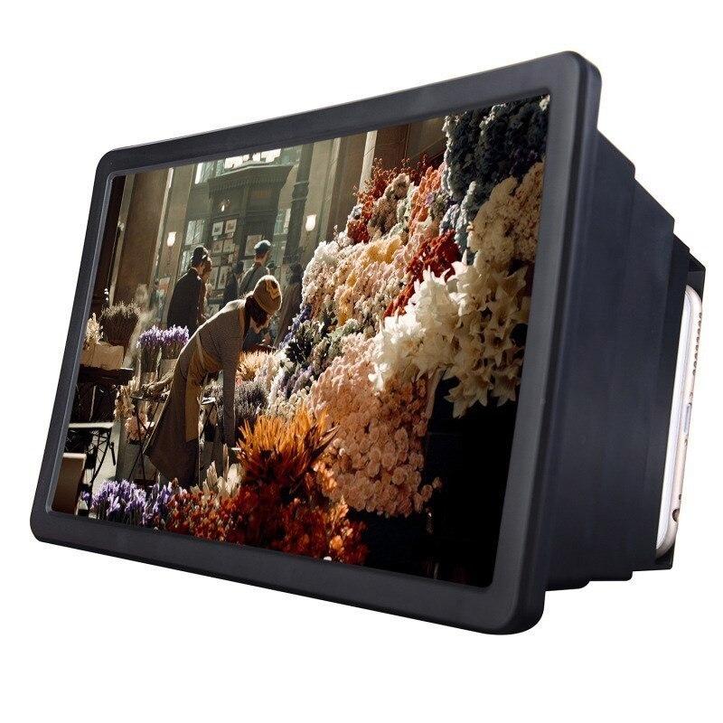 Màn hình Kính Lúp Video Phóng To Đứng Chủ Có Thể Gập Lại Màn Hình điện thoại Khuếch Đại Điện Thoại Di Động Tiện Ích 3D