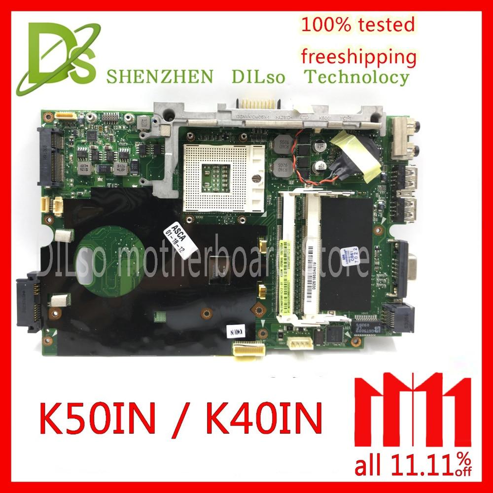 KEFU K40IN K50IN motherboard for asus X8AIN,X5DIN K40IP K50IP laptop motherboard Test mainrboard work 100% цена