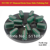 4th Step 8 Diamond Polishing Pads For Stone Slabs 200mm Resin Marble Granite Basalt Slab