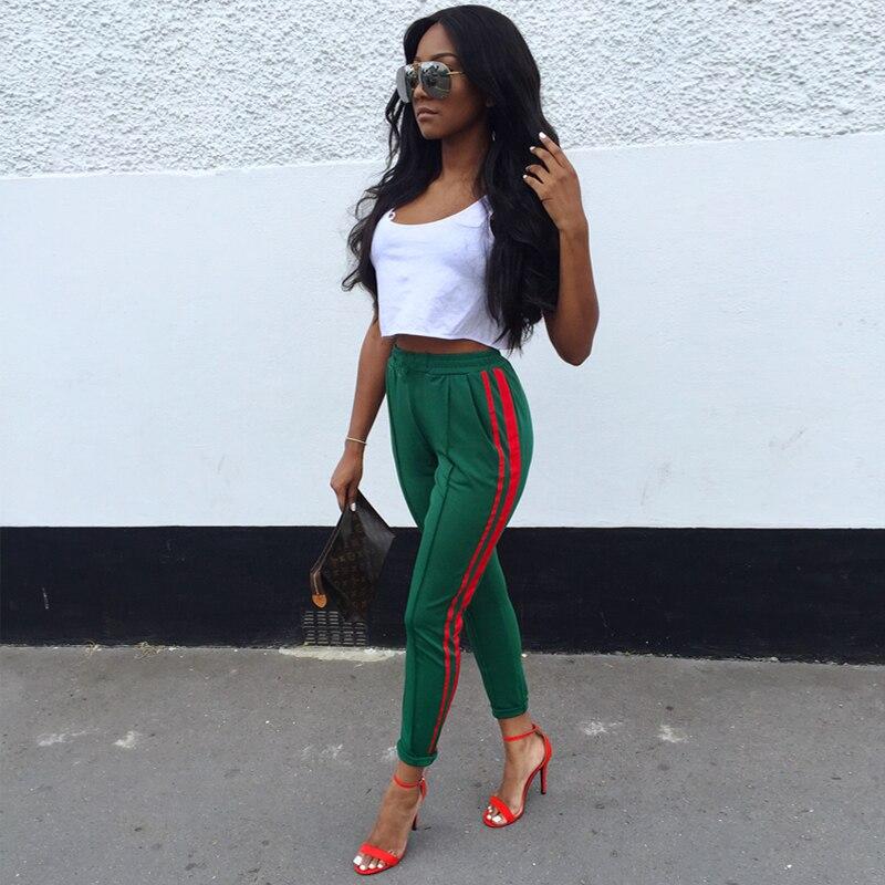 Trousers women 2018 sweatpants track pencil pants Casual Side stripe sweat pants Bottom High quality long pants streetwear