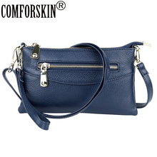 COMFORSKIN Brand Luxury Cowhide Leather Clutch Bag Ladies Messenger Fashion Small Cross-body 2019 New Arrivals Women