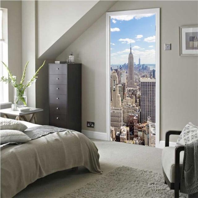 New York City Manhattan DIY Muurschildering Wallpaper Achtergrond ...