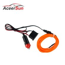 LED Mobil Styling Warna Orange 1 M 2 M 3 M 4 M 5 M Cahaya Ambient Fleksibel Neon Strip LED Mobil Lampu Interior Trim El Cahaya Dingin 5 V(China)