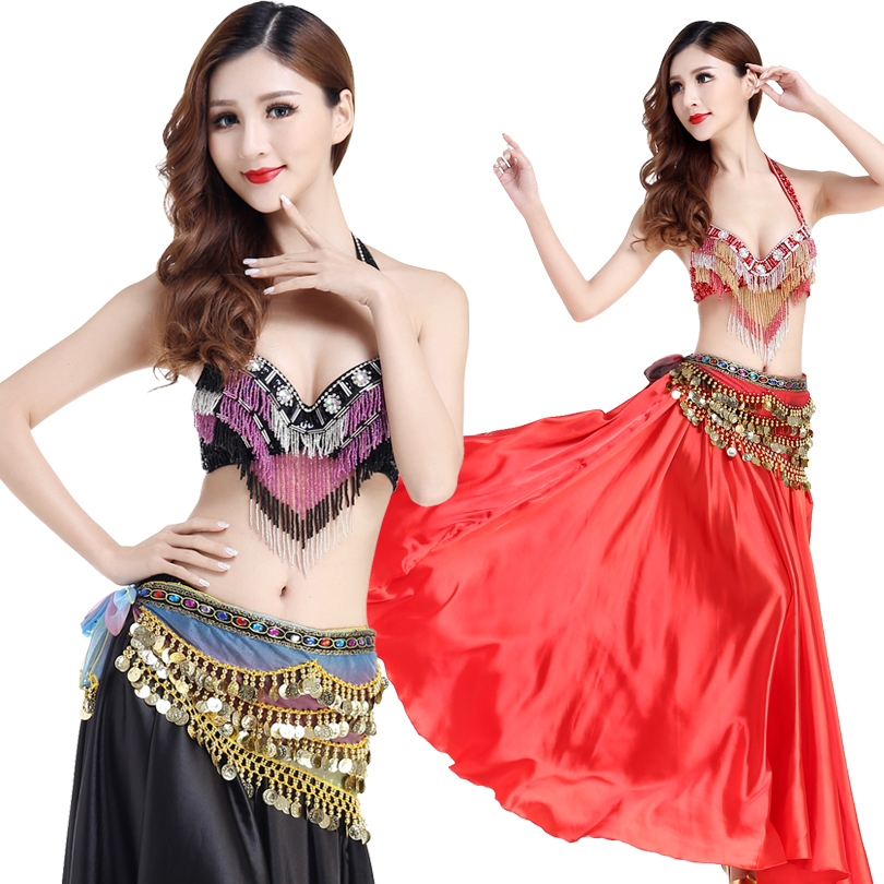 Oriental Belly Dance Costume Performance Outfits Halloween Party Bra Hip Scarf Bollywood Egyptian Skirt Sequined Tassel
