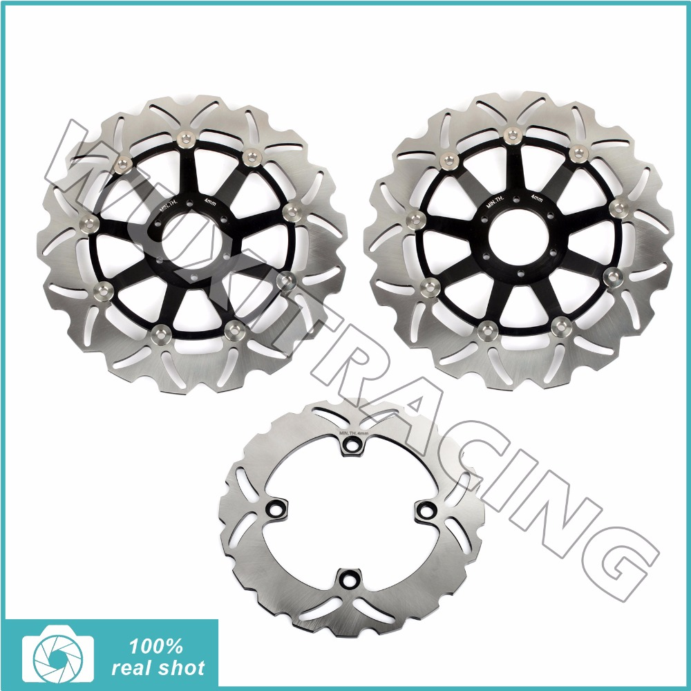 Set Front Rear Brake Discs Rotors for Honda CB 400 N CBR 600 F F3 SuperSport SE SJR 95-98 CBR 400 900 RR 90-97 VTR 1000 F 97-07