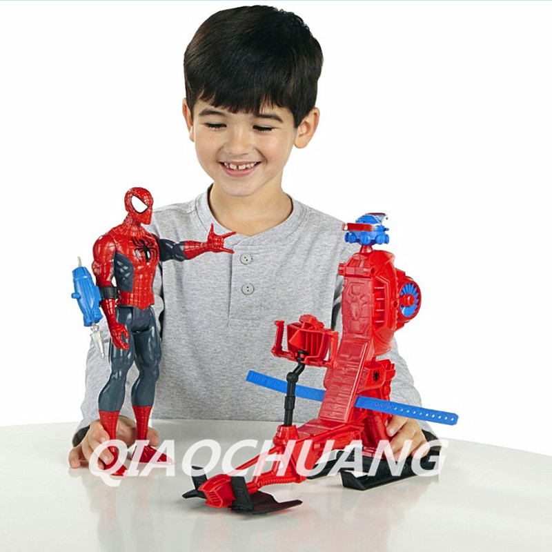 The Amazing Spider-Man Avengers Superhero Spider-Man Helicopter Transmitter Action Figure Collectible Model Toy Boxed W57 пластилин spider man 10 цветов