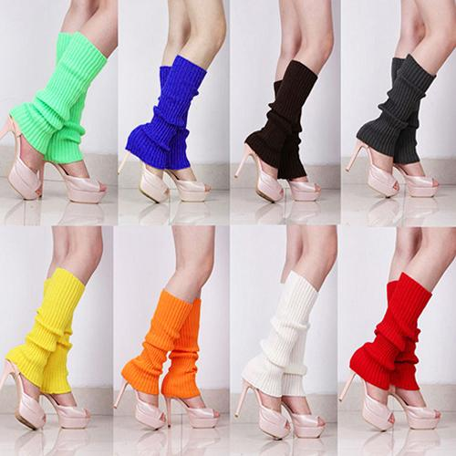 Lady Women Solid Candy Color Knit Winter Leg Warmers Loose Style Boot Knee High Boot Stockings Leggings Gift Warm Boots Leg