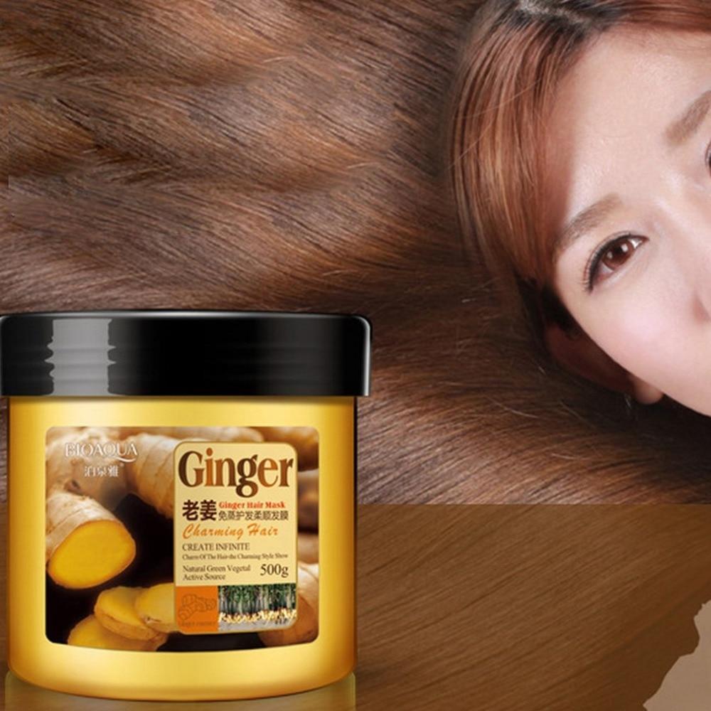 BIOAQUA Natural Herbal Ginger Shampoo/Mask Anti Hair Loss And Hair Growth Fast Oil Control Hair Mask Hair Care серум за растеж на мигли