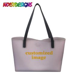 NOISYDESIGNS Customized Your Image Design Tote Handbags Fashion Shoulder bag Lady Hand Bag BolsosTote Bags Women Large Capacity