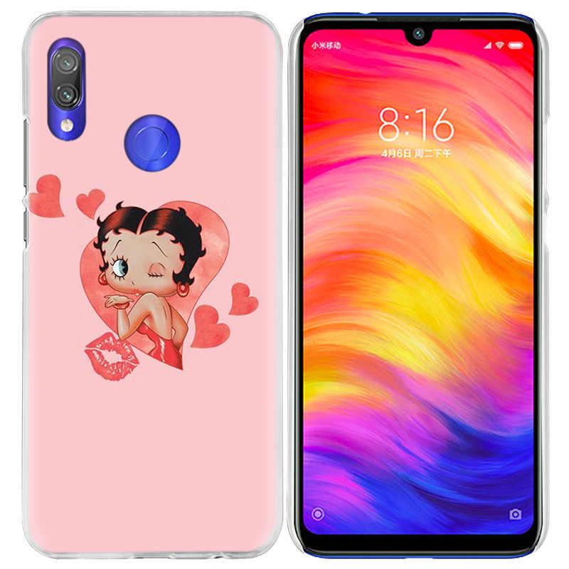 Розовый Sexy Betty Boop чехол для спортивной камеры Xiao mi Red mi Go Note 7 6 6A Pro S2 5 5A 4X mi A1 A2 9 mi x 3 5G 8 lite Play F1 жесткий чехол для телефона pc