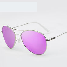2016 Pilot Sunglasses Luxury Brand Women Purple Glasses Alloy Frame 5Color Vintage Sunglasses Aviator Oculos de sol feminino
