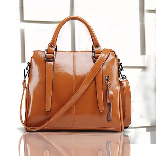 Brands Women Handbag Female Pu Leather Handbags Portable Shoulder Bag Office Las Casual Top Handle
