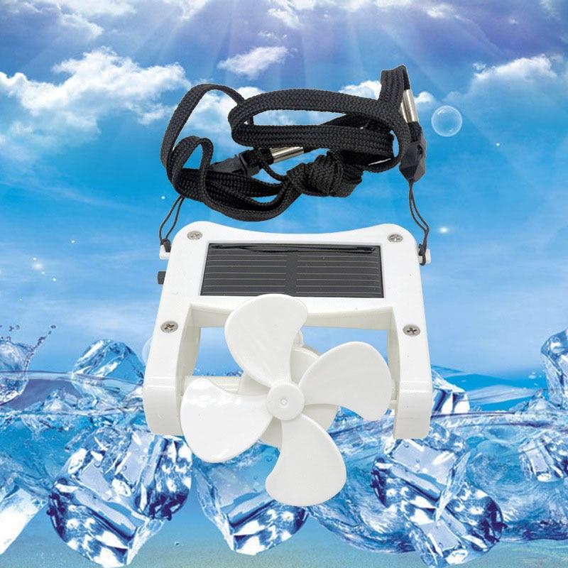 Creative Convenient Solar USB Mini Fan Portable Cap Hat Clip-on Hanging Desktop Fans Cooler For Camping Travel HY99 AU09