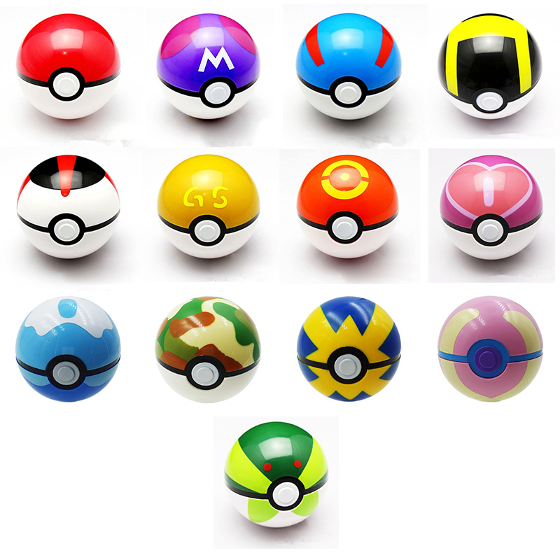 ᑐ1pcs Pokeball Toy Openable ᐃ 7cm 7cm Action Figures