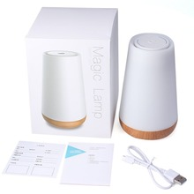LED Portable Mini Bluetooth Speakers Wireless Hands Free Speaker Led Smart Bedside Lamp Colorful Night Light YX025 r25