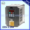 2 2kw Variable Frequency Drive VFD Inverter 3HP 220V AC New Product High Quality
