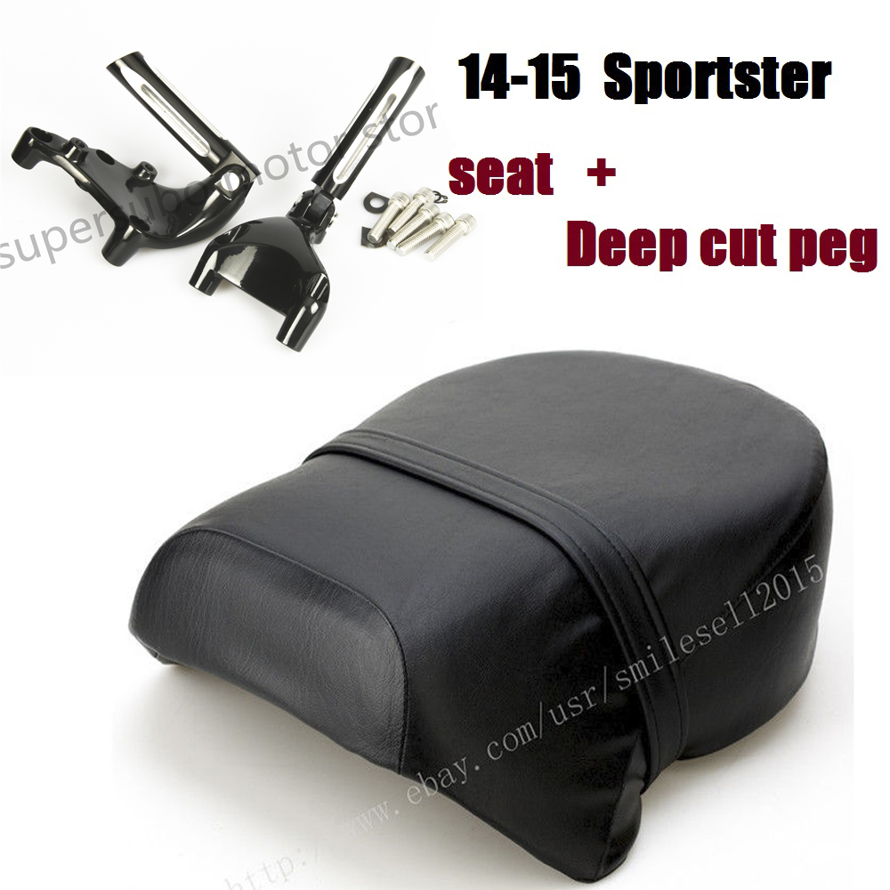 Motorcycles Parts Rear Passenger Seat + Footpeg Mount Set For Harley Sportster XL 883 1200 2014-2015