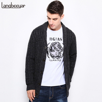 Top Grade New Thick Autumn Winter Fashion Men S Sweaters Single Breasted Slim Fit Mens Cardigan