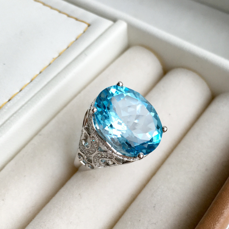 Здесь можно купить  KJJEAXCMY fine jewelry  925 sterling silver inlaid with natural topaz ring simple gem dandelion goddess 12 carats mnbvc  Ювелирные изделия и часы