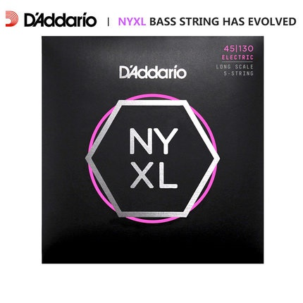 D' addario NYXL Nickel Wound Bass 기타 줄, Long Scale, NYXL4095 NYXL45100 NYXL45105 NYXL50105 NYXL45130 (5 현베이스)