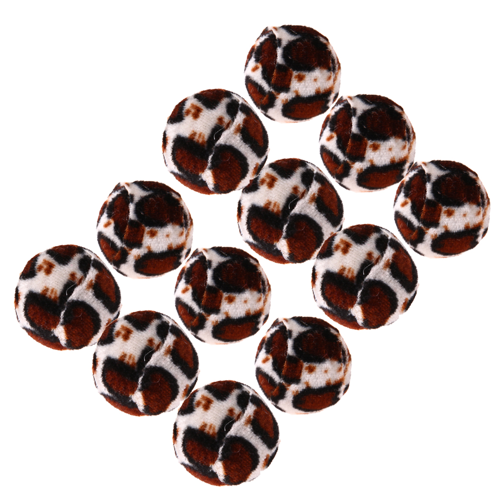12pcs Cat Ball Toy Interactive Cat Toys Play Chewing Leopard Scratch Toy Dog Puppy Pet Traning Funny Toy Pet E#CH